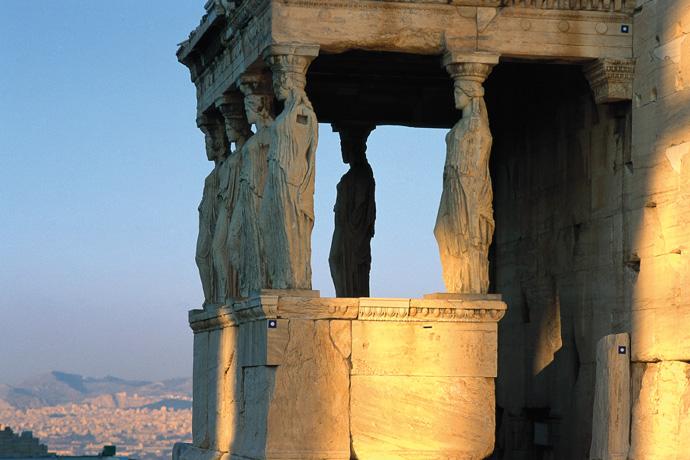 Korenhalle des Erechtheions auf der Akropolis von Athen