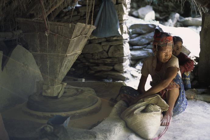 Kornmühle, Nepal